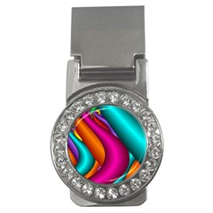 Fractal Wallpaper Color Pipes Money Clips (cz)  by Amaryn4rt