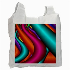 Fractal Wallpaper Color Pipes Recycle Bag (one Side) by Amaryn4rt