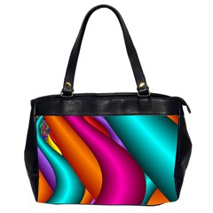 Fractal Wallpaper Color Pipes Office Handbags (2 Sides)  by Amaryn4rt