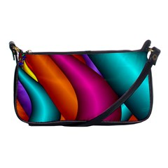 Fractal Wallpaper Color Pipes Shoulder Clutch Bags by Amaryn4rt