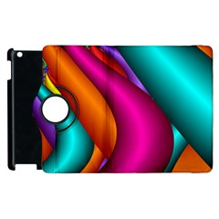 Fractal Wallpaper Color Pipes Apple Ipad 2 Flip 360 Case by Amaryn4rt