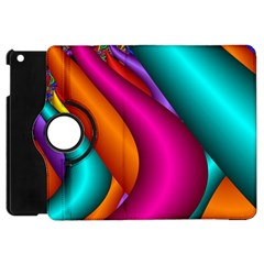 Fractal Wallpaper Color Pipes Apple Ipad Mini Flip 360 Case by Amaryn4rt