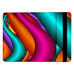 Fractal Wallpaper Color Pipes Samsung Galaxy Tab Pro 12 2  Flip Case