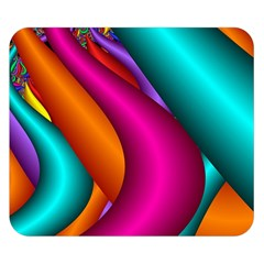 Fractal Wallpaper Color Pipes Double Sided Flano Blanket (small)  by Amaryn4rt