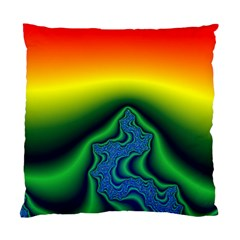 Fractal Wallpaper Water And Fire Standard Cushion Case (one Side) by Amaryn4rt