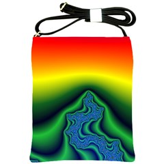 Fractal Wallpaper Water And Fire Shoulder Sling Bags by Amaryn4rt