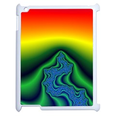 Fractal Wallpaper Water And Fire Apple Ipad 2 Case (white) by Amaryn4rt