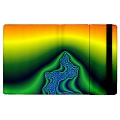 Fractal Wallpaper Water And Fire Apple Ipad 2 Flip Case by Amaryn4rt