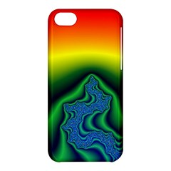 Fractal Wallpaper Water And Fire Apple Iphone 5c Hardshell Case by Amaryn4rt