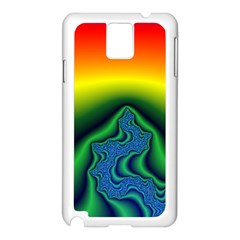 Fractal Wallpaper Water And Fire Samsung Galaxy Note 3 N9005 Case (white) by Amaryn4rt