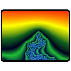 Fractal Wallpaper Water And Fire Double Sided Fleece Blanket (large)  by Amaryn4rt