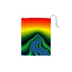 Fractal Wallpaper Water And Fire Drawstring Pouches (xs)