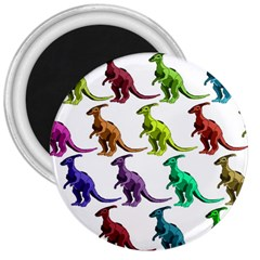 Multicolor Dinosaur Background 3  Magnets by Amaryn4rt
