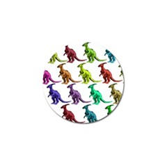 Multicolor Dinosaur Background Golf Ball Marker (10 Pack) by Amaryn4rt