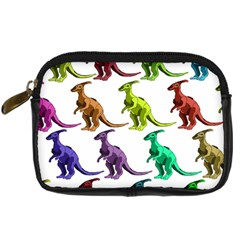 Multicolor Dinosaur Background Digital Camera Cases by Amaryn4rt