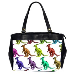 Multicolor Dinosaur Background Office Handbags (2 Sides)  by Amaryn4rt