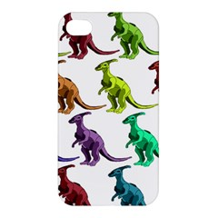 Multicolor Dinosaur Background Apple Iphone 4/4s Hardshell Case by Amaryn4rt