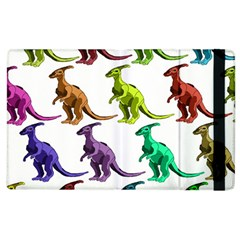 Multicolor Dinosaur Background Apple Ipad 3/4 Flip Case by Amaryn4rt