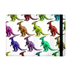 Multicolor Dinosaur Background Apple Ipad Mini Flip Case by Amaryn4rt
