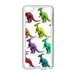 Multicolor Dinosaur Background Apple Ipod Touch 5 Case (white) by Amaryn4rt