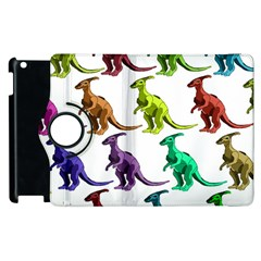 Multicolor Dinosaur Background Apple Ipad 2 Flip 360 Case by Amaryn4rt