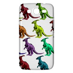Multicolor Dinosaur Background Samsung Galaxy Mega 5 8 I9152 Hardshell Case  by Amaryn4rt