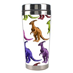 Multicolor Dinosaur Background Stainless Steel Travel Tumblers by Amaryn4rt