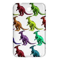 Multicolor Dinosaur Background Samsung Galaxy Tab 3 (7 ) P3200 Hardshell Case  by Amaryn4rt