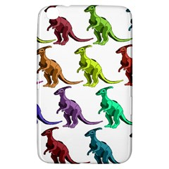 Multicolor Dinosaur Background Samsung Galaxy Tab 3 (8 ) T3100 Hardshell Case  by Amaryn4rt