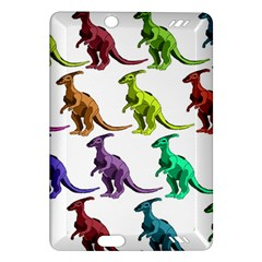 Multicolor Dinosaur Background Amazon Kindle Fire Hd (2013) Hardshell Case by Amaryn4rt