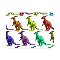 Multicolor Dinosaur Background Double Sided Flano Blanket (mini)  by Amaryn4rt