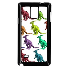 Multicolor Dinosaur Background Samsung Galaxy Note 4 Case (black) by Amaryn4rt