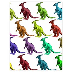 Multicolor Dinosaur Background Drawstring Bag (large) by Amaryn4rt