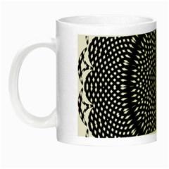 Black Lace Kaleidoscope On White Night Luminous Mugs by Amaryn4rt