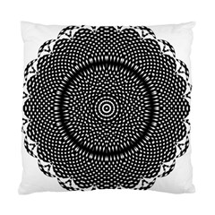 Black Lace Kaleidoscope On White Standard Cushion Case (one Side) by Amaryn4rt