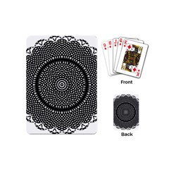 Black Lace Kaleidoscope On White Playing Cards (mini)  by Amaryn4rt