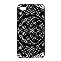 Black Lace Kaleidoscope On White Apple Iphone 4/4s Seamless Case (black) by Amaryn4rt