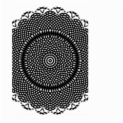 Black Lace Kaleidoscope On White Large Garden Flag (two Sides) by Amaryn4rt
