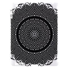 Black Lace Kaleidoscope On White Apple Ipad 3/4 Hardshell Case (compatible With Smart Cover) by Amaryn4rt