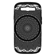 Black Lace Kaleidoscope On White Samsung Galaxy S Iii Hardshell Case (pc+silicone) by Amaryn4rt