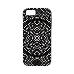 Black Lace Kaleidoscope On White Apple Iphone 5 Classic Hardshell Case (pc+silicone) by Amaryn4rt