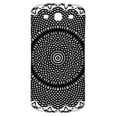 Black Lace Kaleidoscope On White Samsung Galaxy S3 S Iii Classic Hardshell Back Case by Amaryn4rt