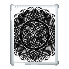 Black Lace Kaleidoscope On White Apple Ipad 3/4 Case (white) by Amaryn4rt