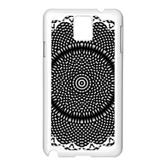 Black Lace Kaleidoscope On White Samsung Galaxy Note 3 N9005 Case (white) by Amaryn4rt