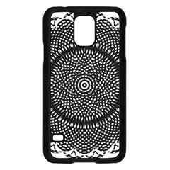 Black Lace Kaleidoscope On White Samsung Galaxy S5 Case (black) by Amaryn4rt