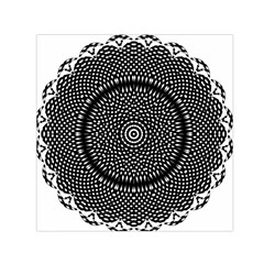 Black Lace Kaleidoscope On White Small Satin Scarf (square) by Amaryn4rt