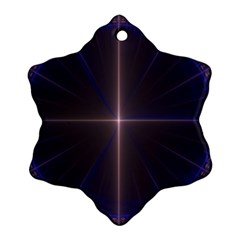 Color Fractal Symmetric Blue Circle Snowflake Ornament (two Sides) by Amaryn4rt