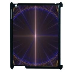 Color Fractal Symmetric Blue Circle Apple Ipad 2 Case (black) by Amaryn4rt
