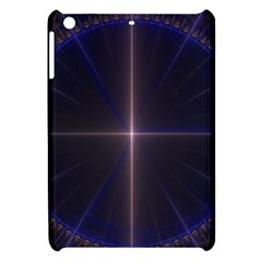 Color Fractal Symmetric Blue Circle Apple Ipad Mini Hardshell Case by Amaryn4rt