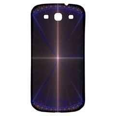 Color Fractal Symmetric Blue Circle Samsung Galaxy S3 S Iii Classic Hardshell Back Case by Amaryn4rt